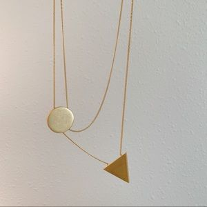 Gold Asymmetrical Madewell Necklace